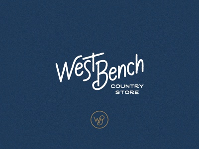 West Bench Country Store Logo retro design rustic vintage retro letterforms custom lettering lettering handlettering wordmark identity vector typography design logo
