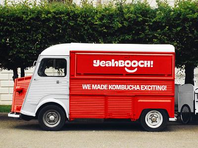 YeahBooch! Food Truck food truck truck vehicle identity illustration typography branding design logo
