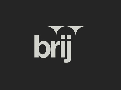 Brij logo mark lettering vector wordmark design letterforms identity branding logo