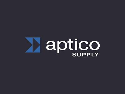 Aptico Supply electrical mark wordmark icon branding identity logotype design logo