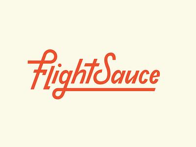 Flight Sauce Disc Golf Brand Logo disc golf logo design brand custom type wordmark type design typography identity branding logo