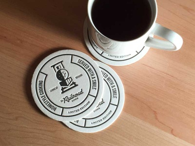 Railroad Diner Coasters