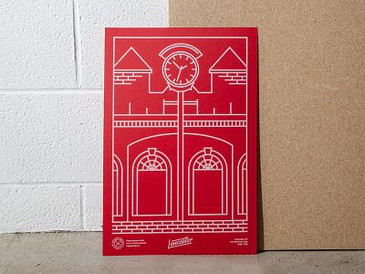 Lancaster Love - Screen Printed Poster handlettering custom lettering illustration travel poster wordmark design screen printing poster
