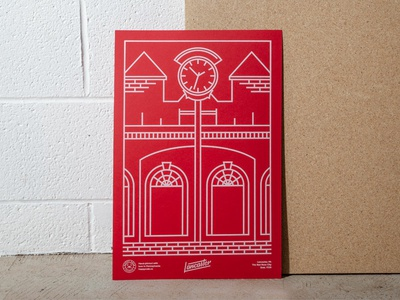 Lancaster Love - Screen Printed Poster