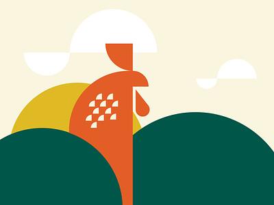 Farm Concept abstract design identity logo illustration vector branding