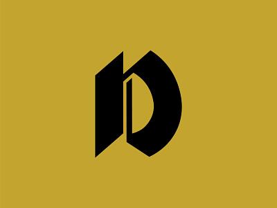 D - Custom Letter logo mark lettermark lettering logodesign icon logo