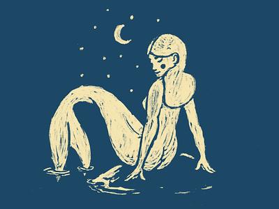 Quarantine digitalillustration procreate quarantine doodle mermaid illustration