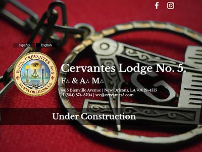 Cervantes Lodge Landing Page landing page graphic design web design