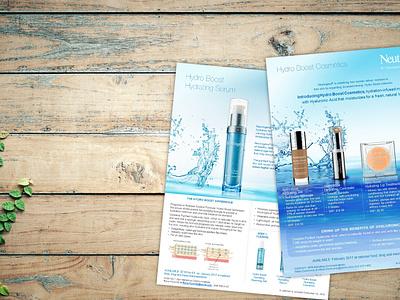 Neutrogena Fact Sheets print design photoshop graphic design