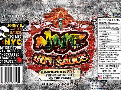 Logo/Label for NYC Hot Sauce Co branding logo design photoshop graphic design