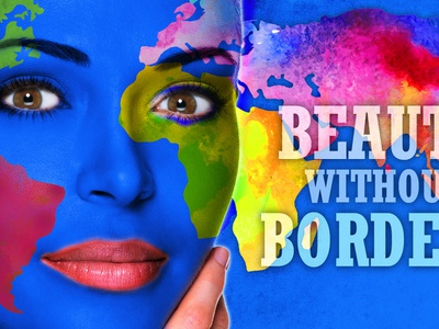 Beauty Without Borders Cover Slide powerpoint presentation design graphic design photoshop