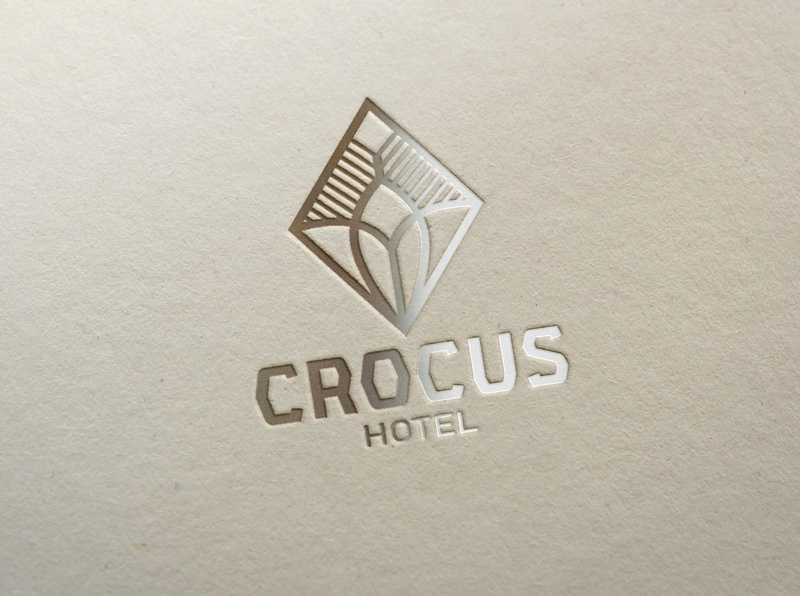 Crocus branding design icon logo