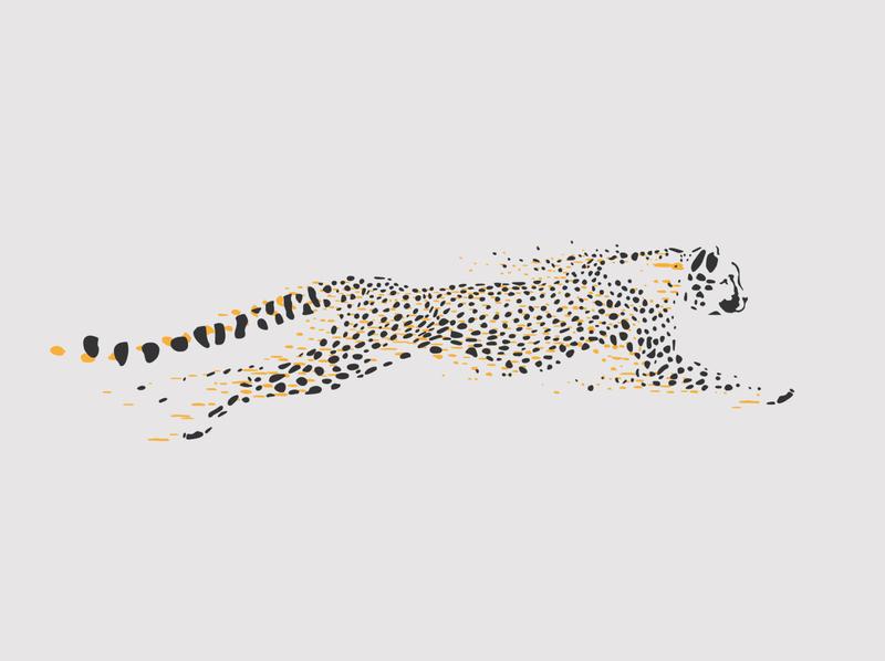 Cheetah branding icon design logo