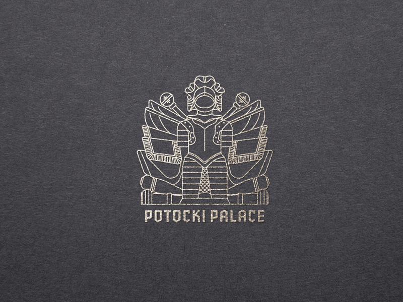 Palace branding icon design logo