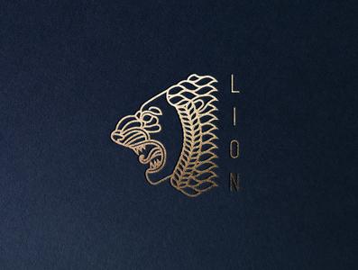 Lion branding logo design icon