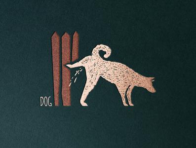 Dog branding icon design logo