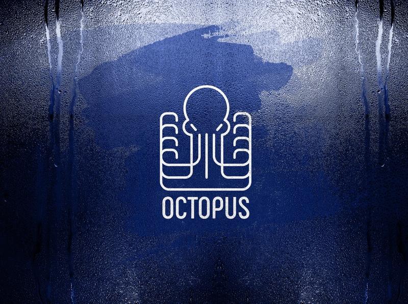 Octopus branding icon design logo