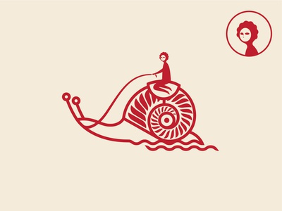 Snail branding design logo icon