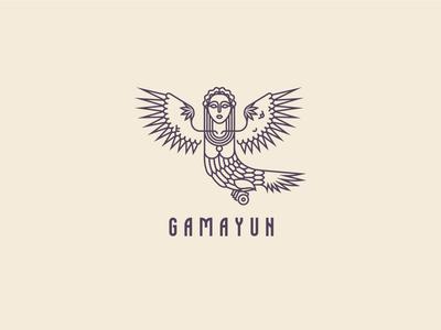 Gamayun branding design logo icon