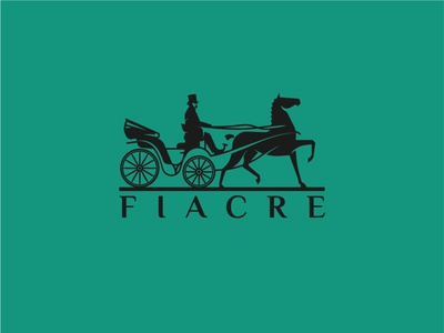 Fiacre carriage horse-drawn fiacre horse design logo