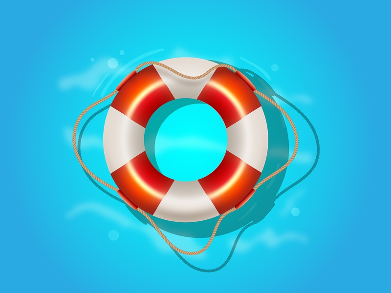 Lifebuoy. Adobe Illustrator tutorial. summer holiday sea design cute illustration vector icon lifebuoy