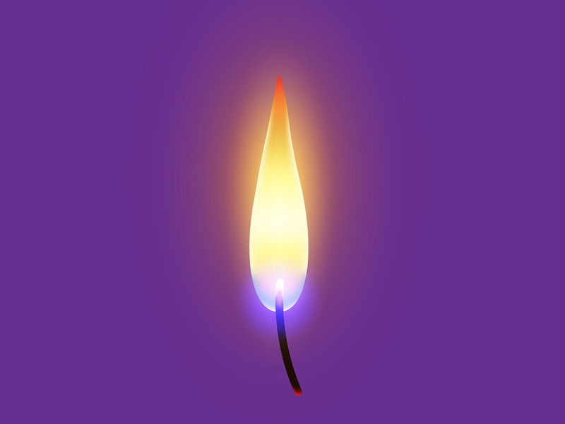 A CANDLE FLAME | ADOBE ILLUSTRATOR TUTORIAL realistic illustrator icon fire flame candle design illustration vector