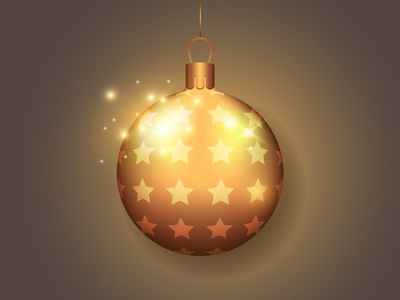 Christmas ball. Adobe Illustrator Tutorial. design new year golden shine holiday gold illustration vector brand christmas ball