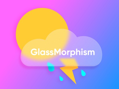 Glass Morphism. Adobe Illustrator tutorial. ui trend trend glass glassy rain sun branding ui design illustration vector glassmorphism glass morphism