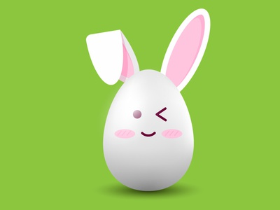 AN EASTER EGG IN KAWAII STYLE. ADOBE ILLUSTRATOR TUTORIAL egg easter egg hunt kawai pink cute shine illustration vector