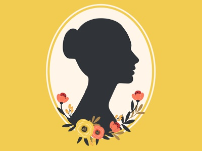 Girl Face Silhouette with flowers.  ADOBE ILLUSTRATOR TUTORIAL portrait face flowers flower girl cute holiday design illustration vector
