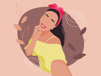 Custom portrait. Adobe Illustrator tutorial faceless stylish abstract modern illustration vector custom portrait