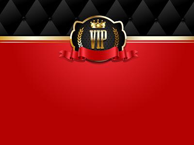 VIP invitation premium background red ribbon bow golden gold crown invitation vip