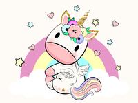 Cute unicorn baby.
