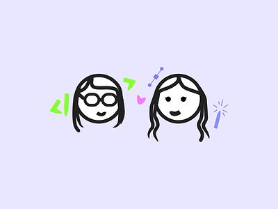 Heidiana: Heidi + Tatiana developer designer illustration