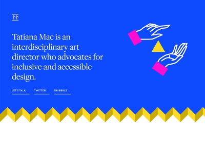 Tatiana Mac Portfolio Site illustrations a11y svg css shapes portfolio site