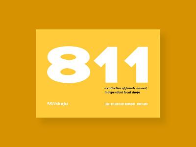 811 Shops Postcard (Front) branding postcard print