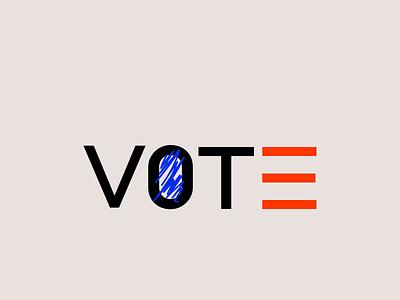 Vote! Voter Registration Day (25 Sep) flat geometric illustration branding design branding logo minimalism voter registration day vote