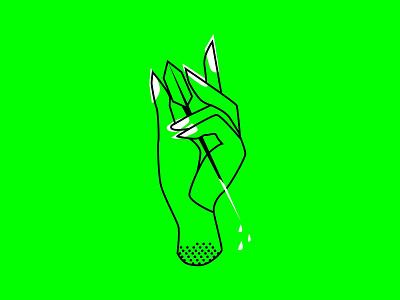 Inktober 2018: Poisonous Hand neon green neon vector hand inktober2018 inktober