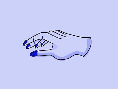 Inktober 2018: Roasted Hand blue illustration hand inktober inktober 2018 inktober2018
