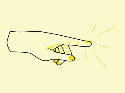 Inktober 2018: Spell Hand hand yellow illustration flat inktober inktober 2018