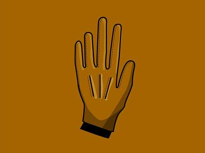 Inktober 2018: Guarded Hand brown minimalistic flat illustration inktober 2018 inktober glove