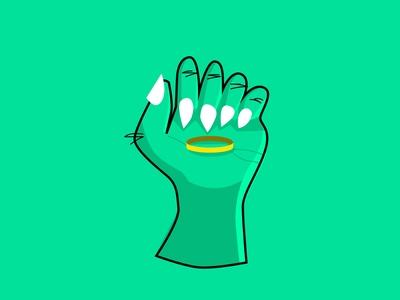 Inktober 2018: Precious Hand