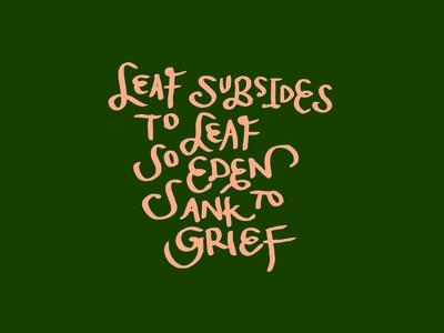 Leaf Subsides To Leaf