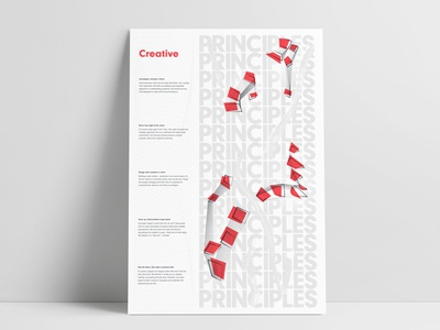 Solid Digital Creative Principles Poster MockUp poster poster design graphic  design collaboration vector print design digital agency illustration