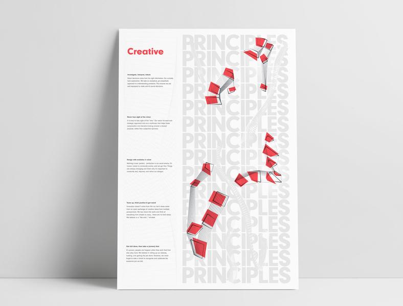 Solid Digital Creative Principles Poster MockUp poster poster design graphic  design collaboration vector print design digital agency illustration
