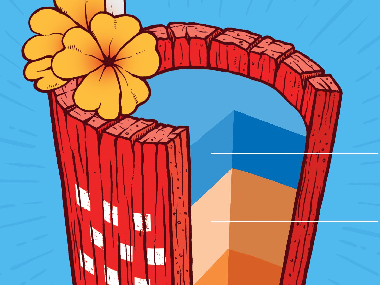 Solid Cocktail sponsorship vector print design digital agency graphic  design illustration