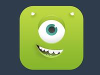 Mike Wazowski icon mike wazowski monster monsters inc icon ios android children pixar