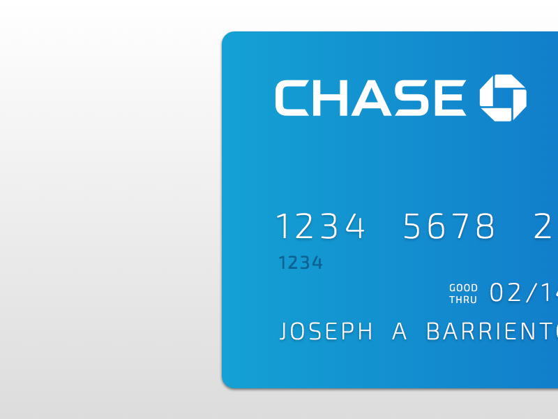 Chase Debit Card by Joseph A Barrientos on Dribbble