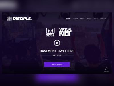 Disciple Records Site Concept
