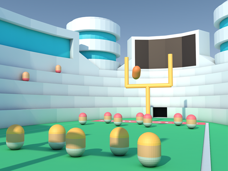 Stadium Close Up city cinema modeling c4d 3d animation low poly